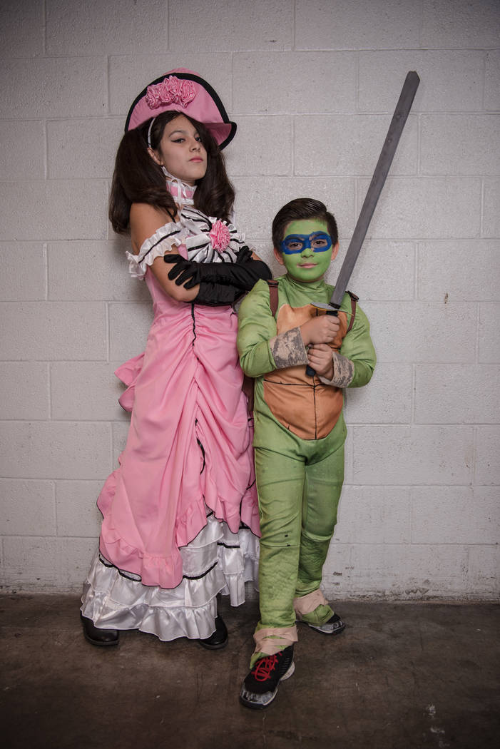 Savannah Perez, 16, and Erik Nunez, 8, at Las Vegas Comic Con on Saturday, June 24, 2017, at the Las Vegas Convention Center in Las Vegas. Morgan Lieberman Las Vegas Review-Journal