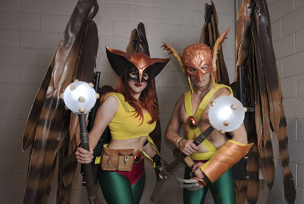 "Julia Moreno Jenkins and Andy ""Hawkman"" Holt at Las Vegas Comic Con on Saturday, June 24, 2017, at Las Vegas Convention Center in Las Vegas. Morgan Lieberman Las Vegas Review-Journal"