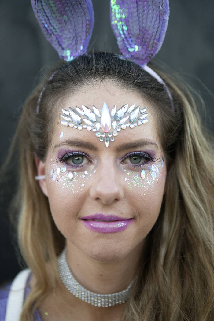 Amanda Berendsen, 27 from Orange County, California is pictured on the second night of Electric Daisy Carnival at Las Vegas Motor Speedway on Saturday, June 17, 2017 in Las Vegas. (Bridget Bennett ...