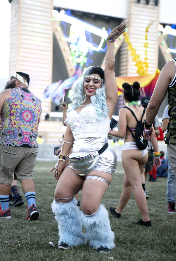 Vana Orojian, 25 from Los Angeles is pictured on the second night of Electric Daisy Carnival at Las Vegas Motor Speedway on Saturday, June 17, 2017 in Las Vegas. (Bridget Bennett/Las Vegas Review- ...
