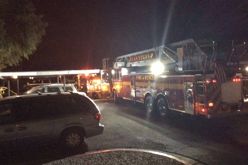 A man died early Saturday after suffering injuries in a kitchen fire at the Northpointe Apartments, 3333 N. Michael Way. (Las Vegas Fire & Rescue)