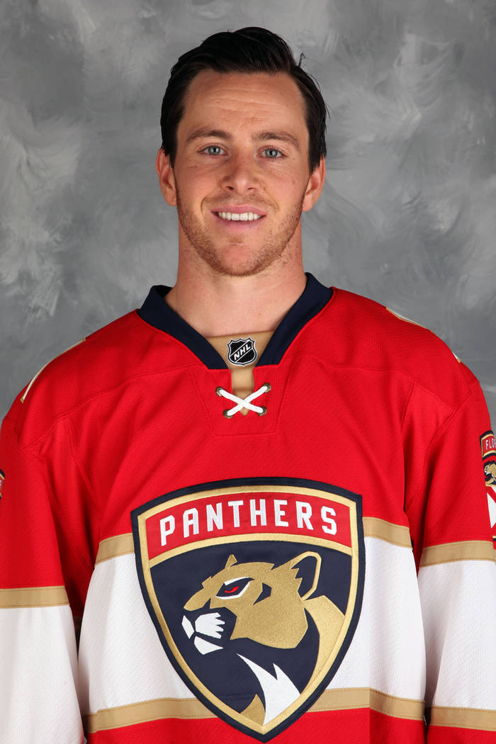 SUNRISE, FL - SEPTEMBER 22: Jonathan Marchessault #81 of the Florida Panthers poses for his official headshot for the 2016-2017 season on September 22, 2016 at the BB&T Center in Sunrise, Flor ...