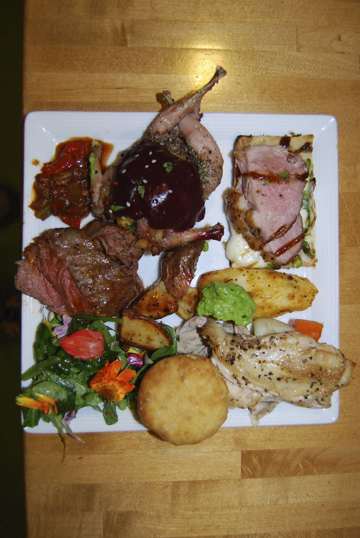 A game meat feast prepared by aspiring cooks at Springs Preserve's Divine Café. Martin G. Olson