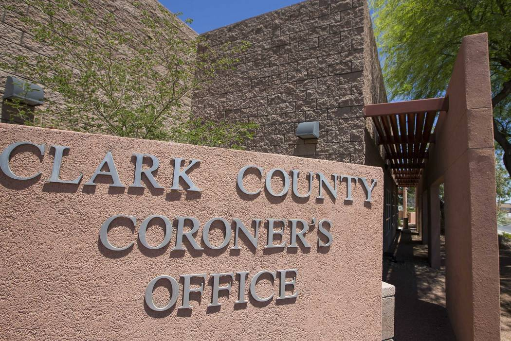 The Clark County Coroner and Medical Examiner office at 1704 Pinto Lane in Las Vegas. (Richard Brian/Las Vegas Review-Journal) @vegasphotograph