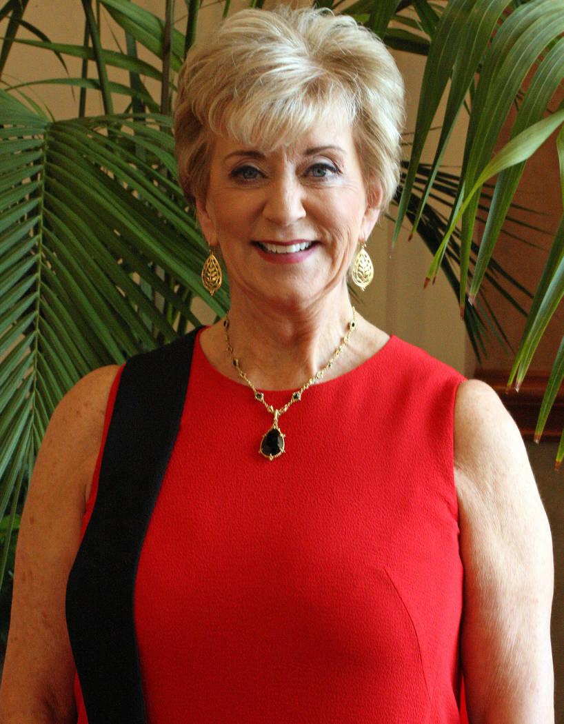 Linda McMahon, head of the Small Business Administration, at Mandalay Bay hotel-casino, Tuesday, June 20, 2017. Gabriella Benavidez Las Vegas Review-Journal @latina_ish
