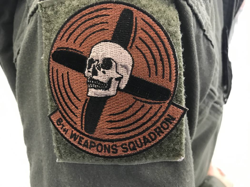 The skull-and-propeller shoulder patch for the 6th Weapons Squadron dates back to 1917. Keith Rogers Las Vegas Review-Journal