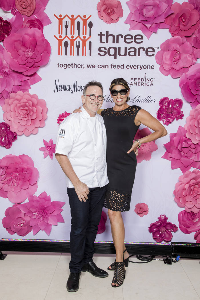 Chef Rick and Roni Moonen at a fashion show fundraiser for Three Square. (Jerry Metellus)