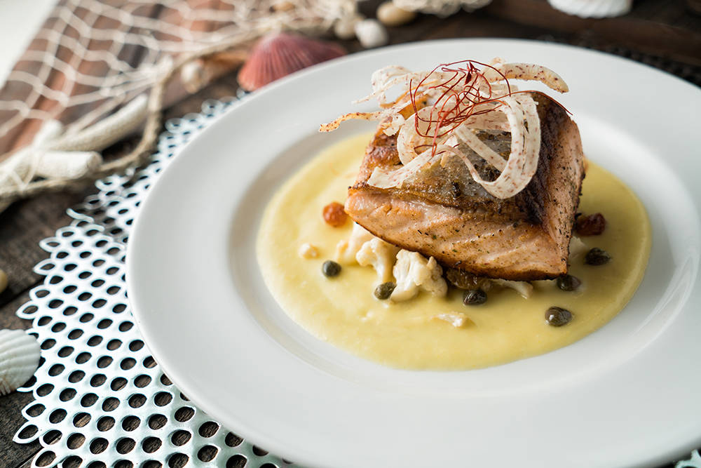 RM Seafood's Moroccan Spiced Salmon will likely be on the menu for the annual Restaurant Week that runs through June 30. (RM Seafood)