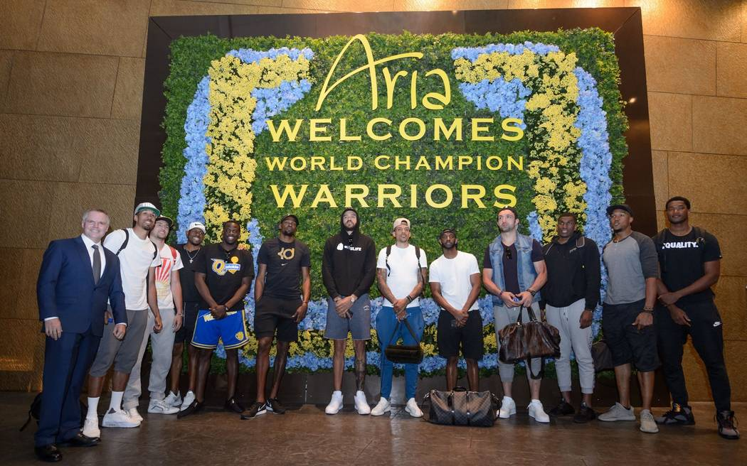 Golden State Warriors at the Aria. (Courtesy)
