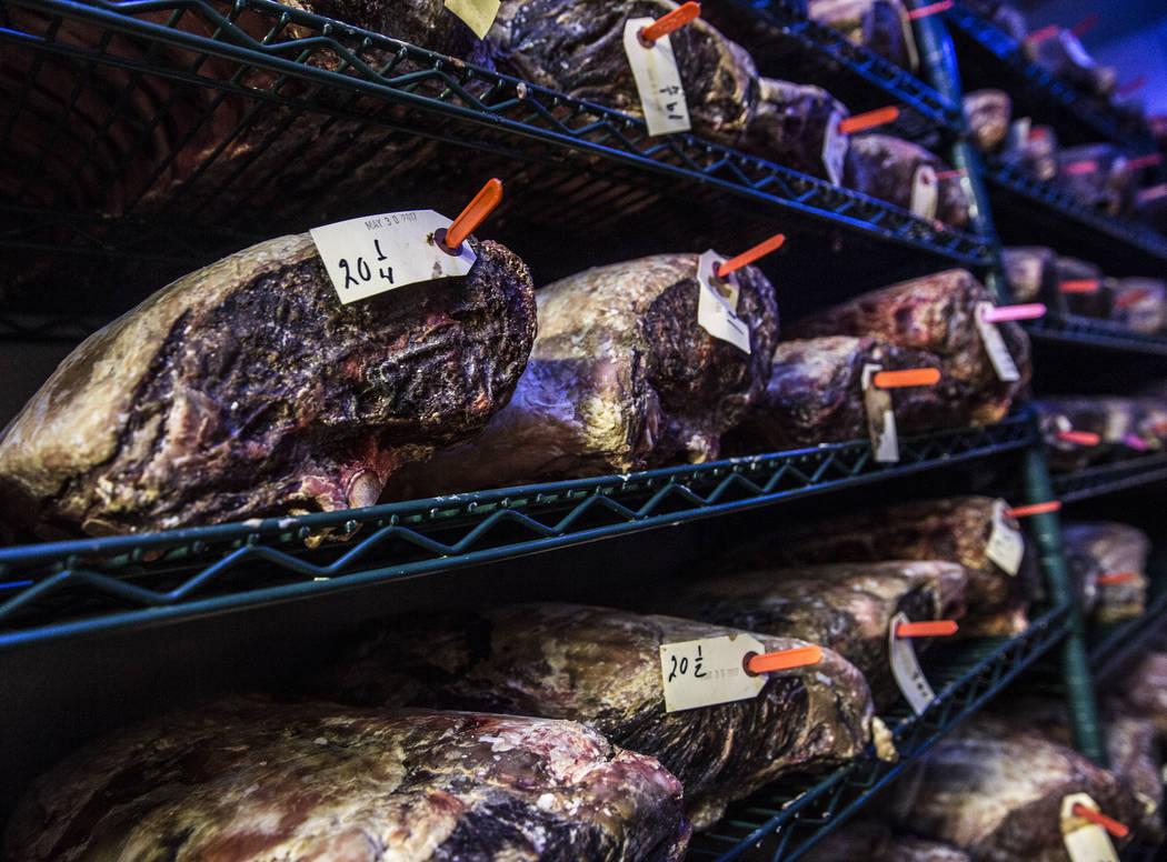 Dry aged beef at Delmonico on Saturday, June 17, 2017, at The Venetian hotel-casino, in Las Vegas. Benjamin Hager Las Vegas Review-Journal @benjaminhphoto