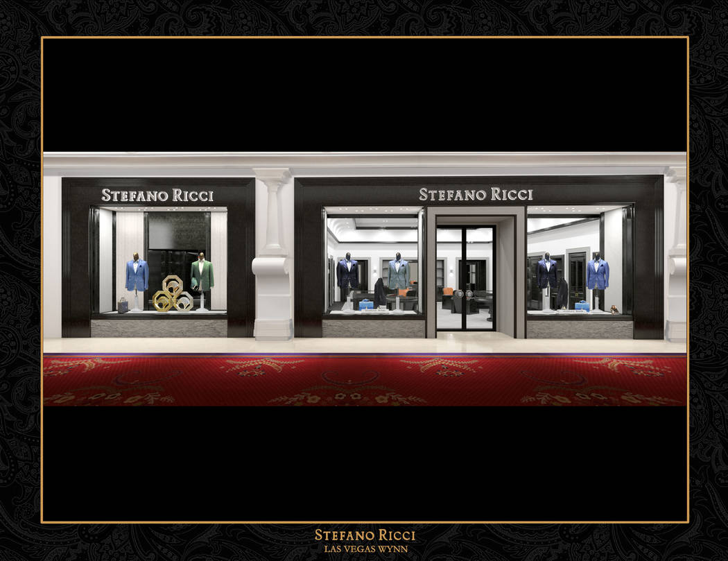 Upscale clothing brand Stefano Ricci plans to open a store at Wynn Plaza in November. The brand has one location at the Shops at Crystals. Courtesy of Alfred Chan/Stefano Ricci