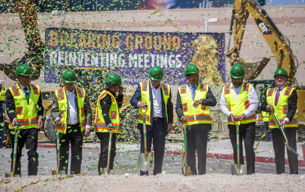 MGM Grand executives and partners during the ground breaking ceremony for the MGM Grand Convention Center expansion on Tuesday, June 20, 2017.  Patrick Connolly Las Vegas Review-Journal @PConnPie