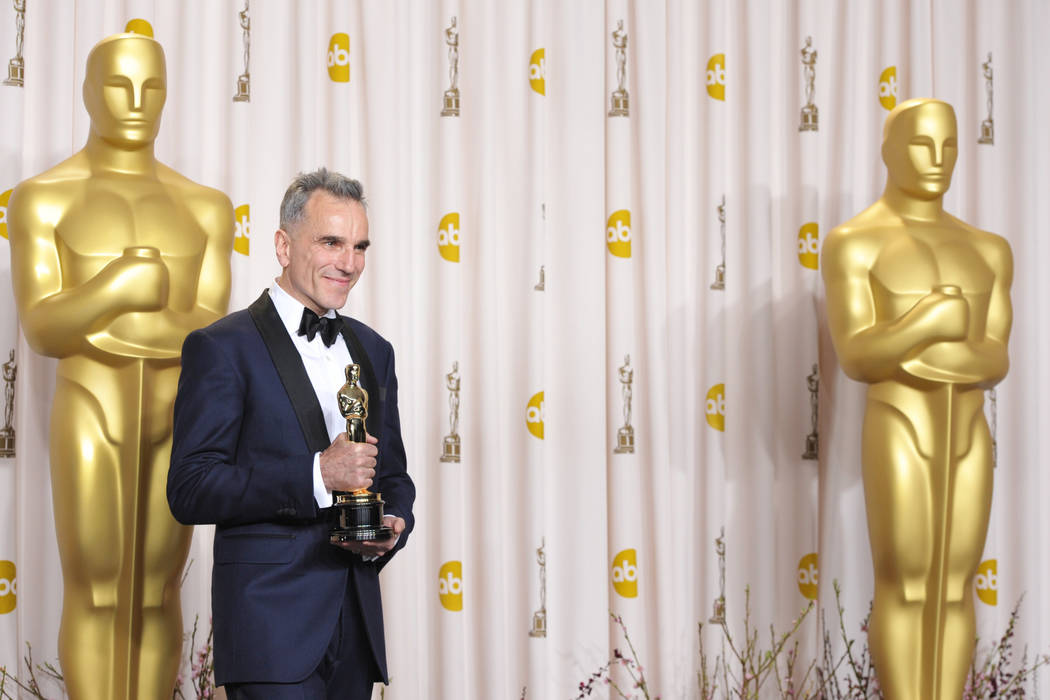 Daniel Day Lewis in the press room at the Oscars at the Dolby Theatre on Sunday Feb. 24, 2013, in Los Angeles. (John Shearer/Invision/AP)