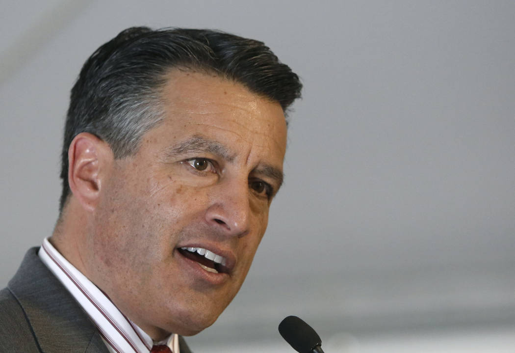 Gov. Brian Sandoval on Thursday, June 15, 2017, in Las Vegas. Bizuayehu Tesfaye/Las Vegas Review-Journal @bizutesfaye