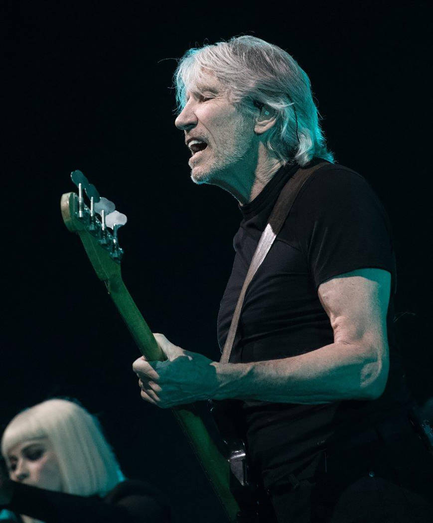 Roger Waters, the co-founder of Pink Floyd, brought his angry Us + Them tour to the T-Mobile Arena. (Tom Donoghue)