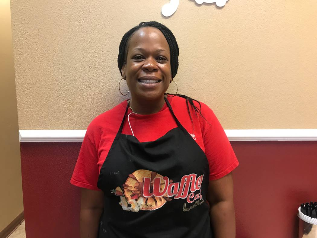 Co-owner Kimberly Brown at Waffles Cafe, 6885 N. Aliante Pkwy #103. (Kailyn Brown/View) @KailynHype