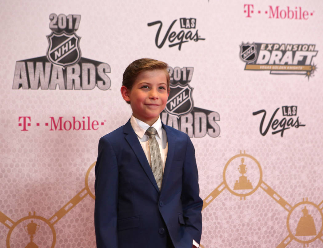 dActor Jacob Tremblay on the Magenta Carpet before the 2017 NHL Awards and Expansion Draft at T-Mobile Arena on Wednesday, June 21, 2017 in Las Vegas. Bridget Bennett Las Vegas Review-Journal @bri ...