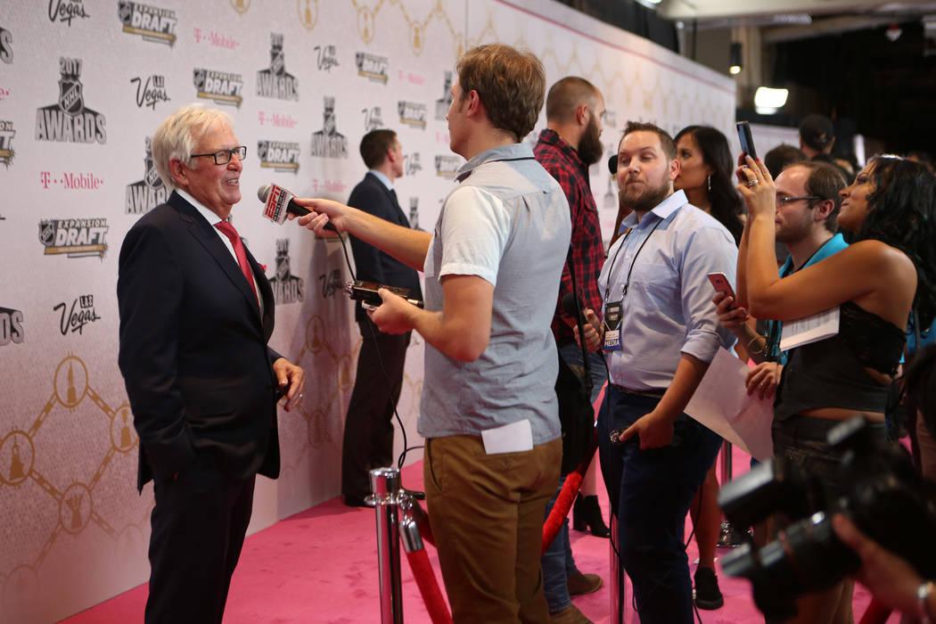 Vegas Golden Knights owner Bill Foley on the Magenta Carpet before the 2017 NHL Awards and Expansion Draft at T-Mobile Arena on Wednesday, June 21, 2017 in Las Vegas. Bridget Bennett Las Vegas Rev ...