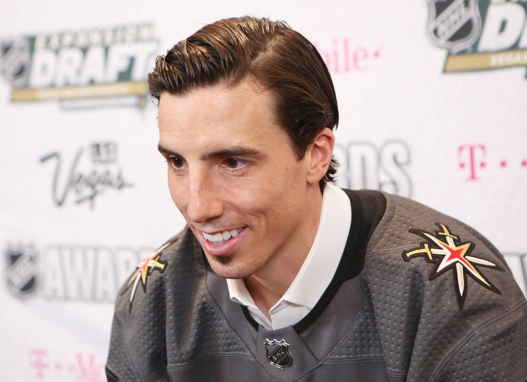 Vegas Golden Knight player Marc-André Fleury is pictured after the team's draft announcement at T-Mobile Arena on Wednesday, June 21, 2017 in Las Vegas. Bridget Bennett Las Vegas Review-Journ ...