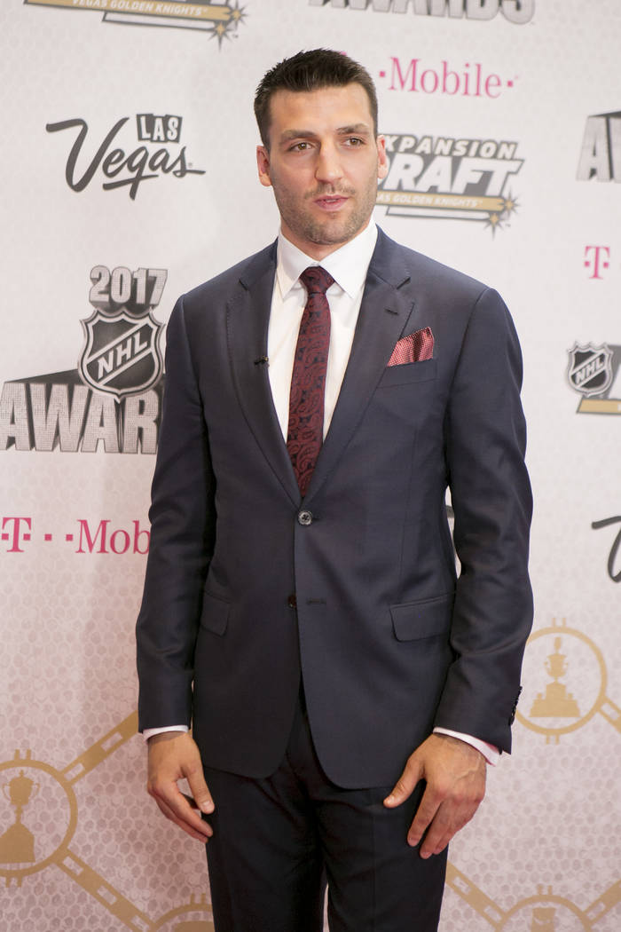 Patrice Bergeron pictured on the Magenta Carpet before the 2017 NHL Awards and Expansion Draft at T-Mobile Arena on Wednesday, June 21, 2017 in Las Vegas. Bridget Bennett Las Vegas Review-Journal  ...