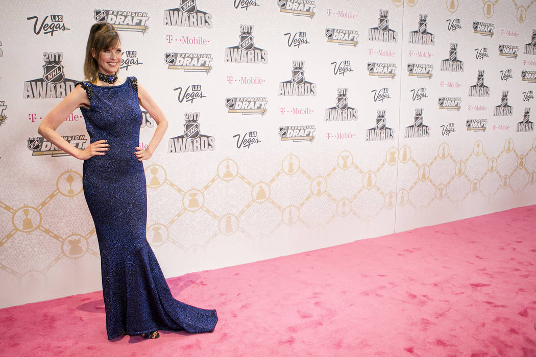 Carol Alt pictured on the Magenta Carpet before the 2017 NHL Awards and Expansion Draft at T-Mobile Arena on Wednesday, June 21, 2017 in Las Vegas. Bridget Bennett Las Vegas Review-Journal @bridge ...
