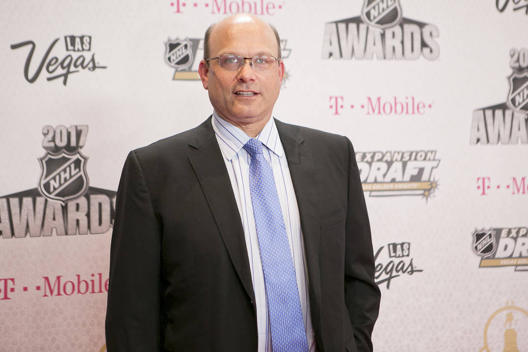 Peter Chiarelli pictured on the Magenta Carpet before the 2017 NHL Awards and Expansion Draft at T-Mobile Arena on Wednesday, June 21, 2017 in Las Vegas. Bridget Bennett Las Vegas Review-Journal @ ...