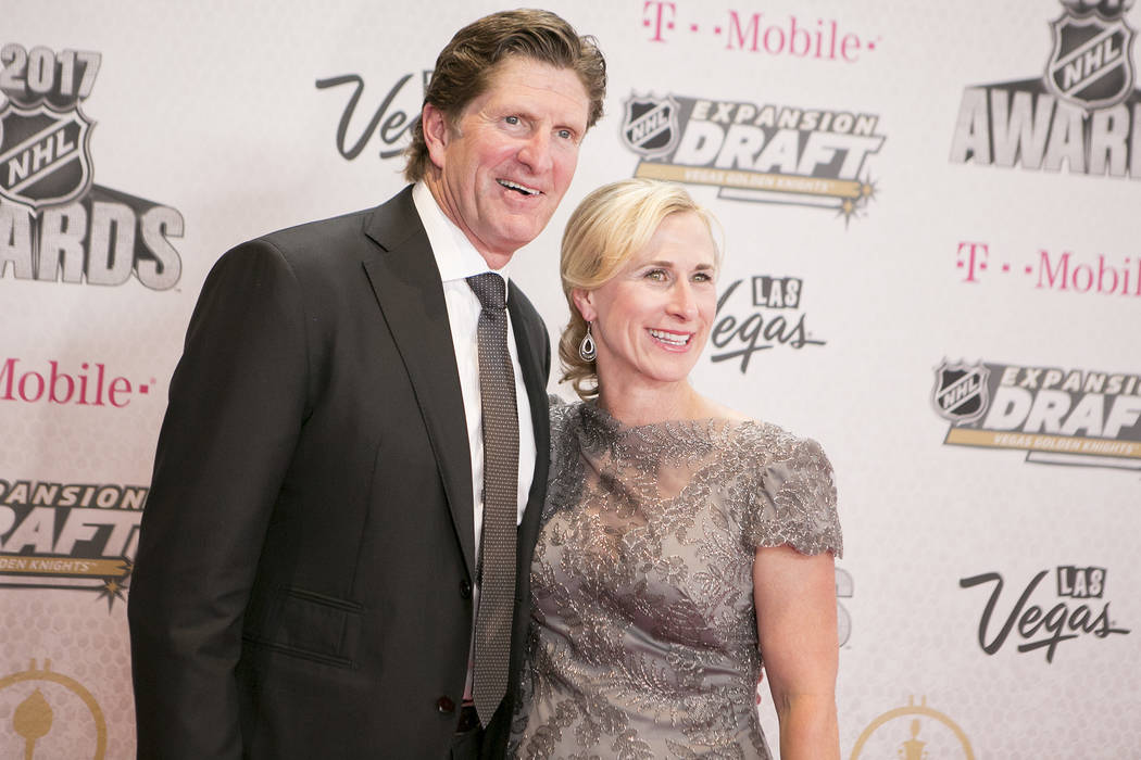 Mike Babcock pictured on the Magenta Carpet before the 2017 NHL Awards and Expansion Draft at T-Mobile Arena on Wednesday, June 21, 2017 in Las Vegas. Bridget Bennett Las Vegas Review-Journal @bri ...
