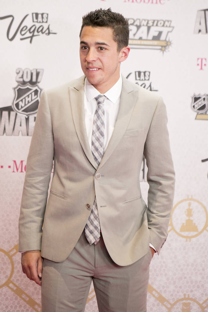 Johnny Gaudreau pictured on the Magenta Carpet before the 2017 NHL Awards and Expansion Draft at T-Mobile Arena on Wednesday, June 21, 2017 in Las Vegas. Bridget Bennett Las Vegas Review-Journal @ ...