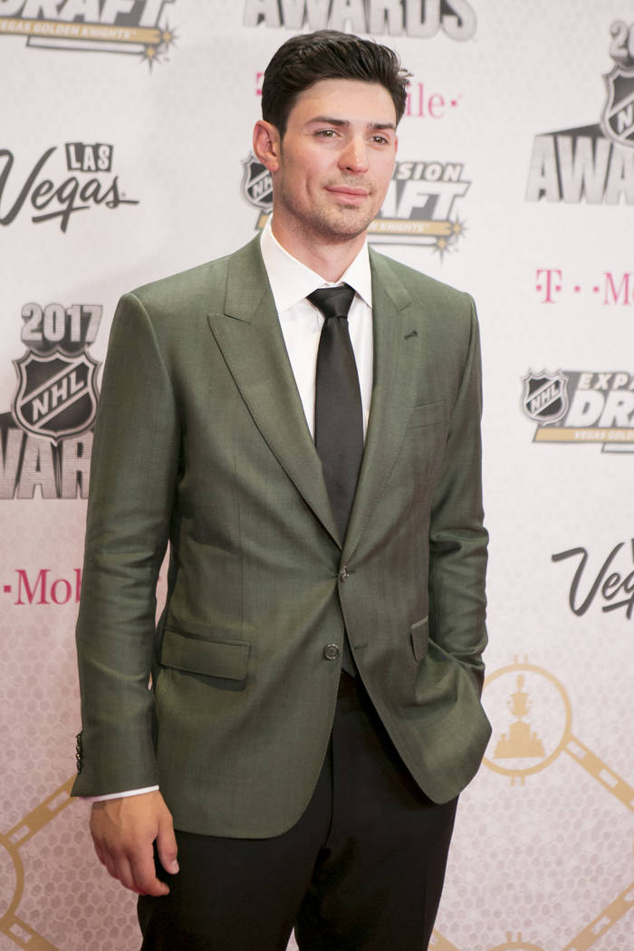 Carey Price is pictured on the Magenta Carpet before the 2017 NHL Awards and Expansion Draft at T-Mobile Arena on Wednesday, June 21, 2017 in Las Vegas. Bridget Bennett Las Vegas Review-Journal @b ...