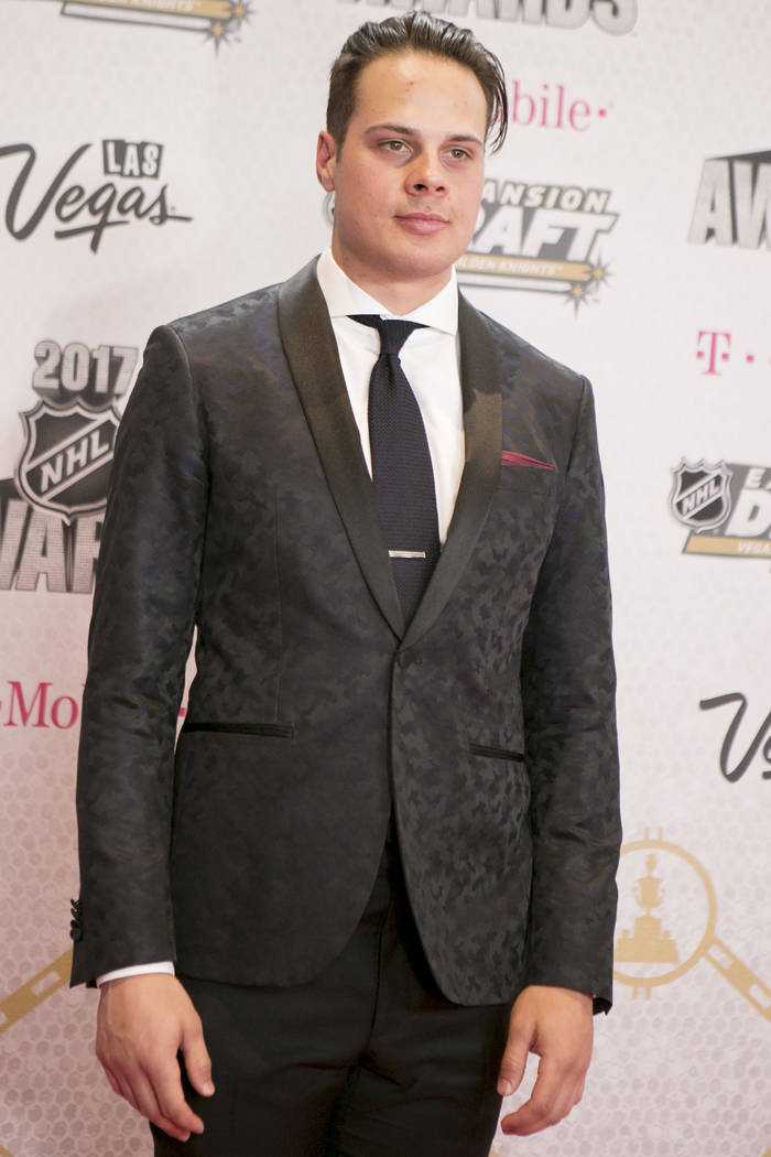 Auston Matthews is pictured on the Magenta Carpet before the 2017 NHL Awards and Expansion Draft at T-Mobile Arena on Wednesday, June 21, 2017 in Las Vegas. Bridget Bennett Las Vegas Review-Journa ...