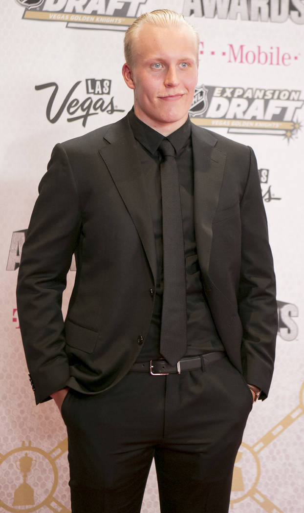 Patrik Laine is pictured on the Magenta Carpet before the 2017 NHL Awards and Expansion Draft at T-Mobile Arena on Wednesday, June 21, 2017 in Las Vegas. Bridget Bennett Las Vegas Review-Journal @ ...