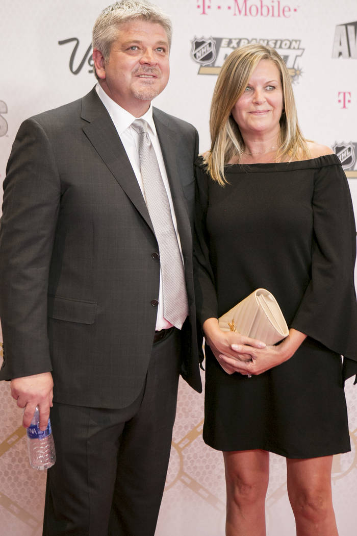 Todd McLellan is pictured on the Magenta Carpet before the 2017 NHL Awards and Expansion Draft at T-Mobile Arena on Wednesday, June 21, 2017 in Las Vegas. Bridget Bennett Las Vegas Review-Journal  ...