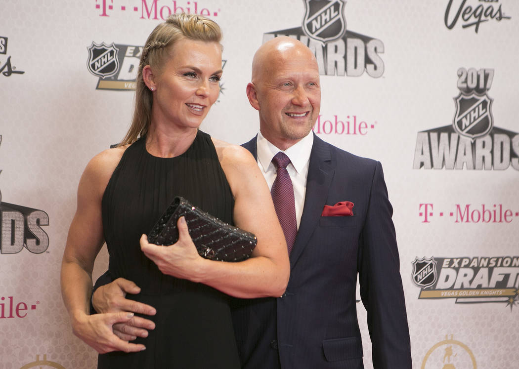 Jarmo Keklinen is pictured on the Magenta Carpet before the 2017 NHL Awards and Expansion Draft at T-Mobile Arena on Wednesday, June 21, 2017 in Las Vegas. Bridget Bennett Las Vegas Review-Journal ...