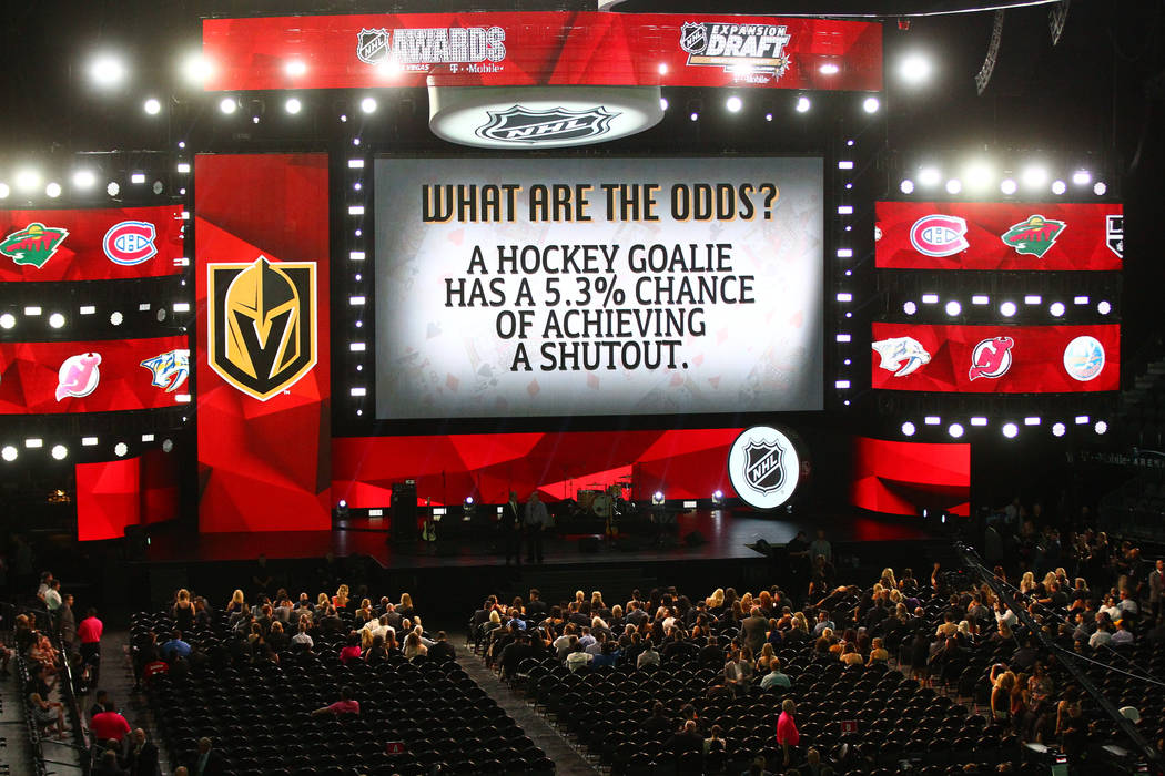 The stage is set before the 2017 NHL Awards and Expansion Draft at T-Mobile Arena on Wednesday, June 21, 2017 in Las Vegas. Chase Stevens Las Vegas Review-Journal