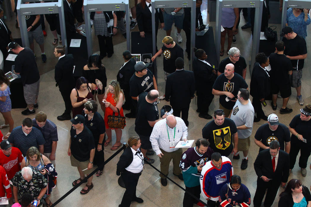 Fans flow into the concourse before the 2017 NHL Awards and Expansion Draft at T-Mobile Arena on Wednesday, June 21, 2017 in Las Vegas. Chase Stevens Las Vegas Review-Journal
