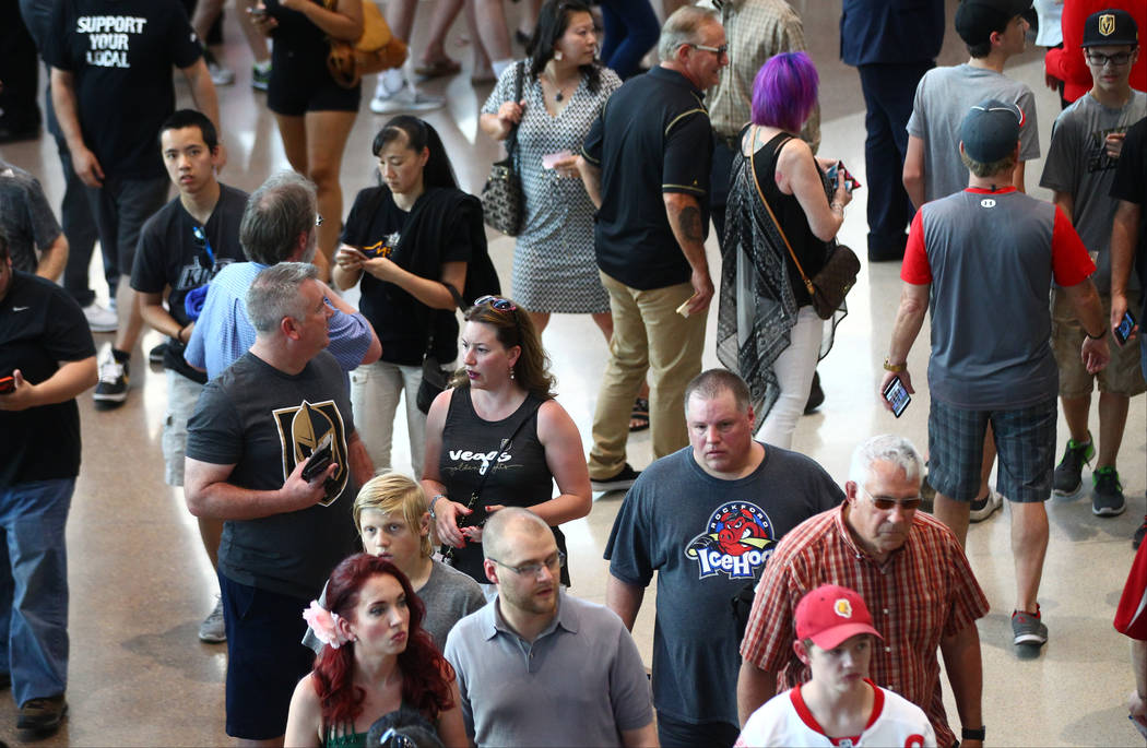 Guests arrive before the 2017 NHL Awards and Expansion Draft at T-Mobile Arena on Wednesday, June 21, 2017 in Las Vegas. Chase Stevens Las Vegas Review-Journal