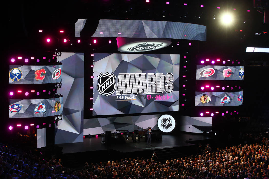 The 2017 NHL Awards and Expansion Draft at T-Mobile Arena on Wednesday, June 21, 2017 in Las Vegas. Chase Stevens Las Vegas Review-Journal