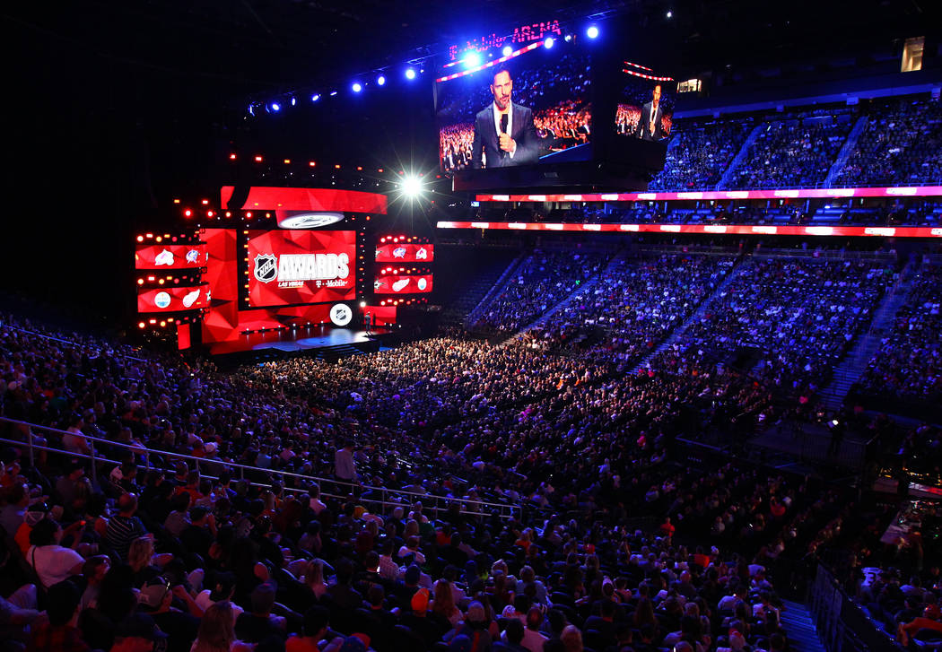 The stage during the 2017 NHL Awards and Expansion Draft at T-Mobile Arena on Wednesday, June 21, 2017 in Las Vegas. Chase Stevens Las Vegas Review-Journal