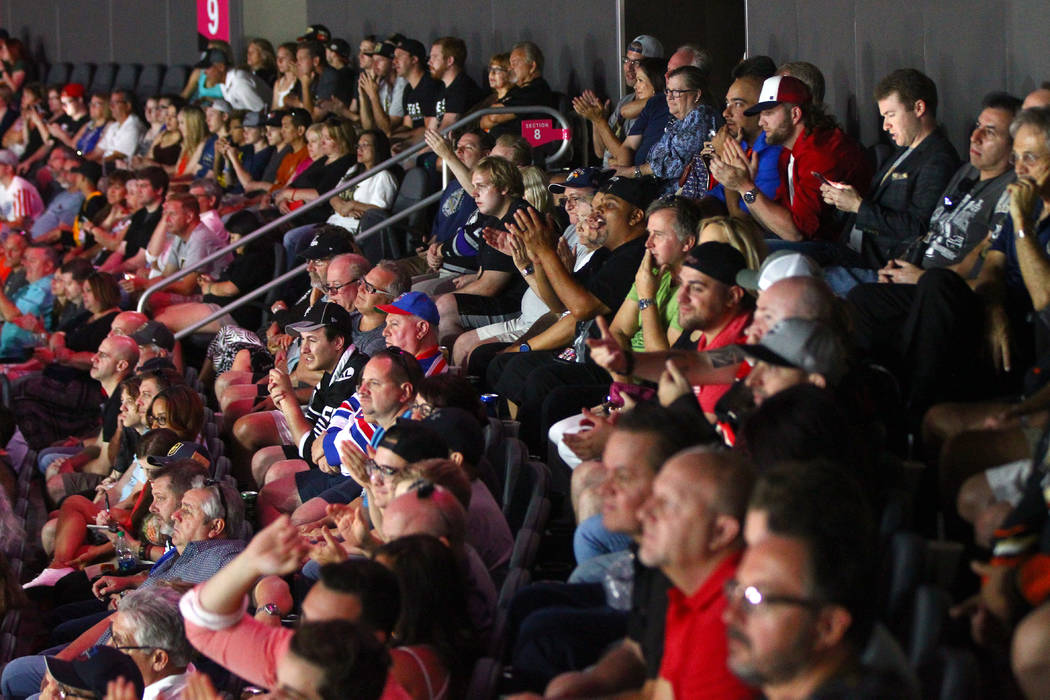 Fans during the 2017 NHL Awards and Expansion Draft at T-Mobile Arena on Wednesday, June 21, 2017 in Las Vegas. Chase Stevens Las Vegas Review-Journal