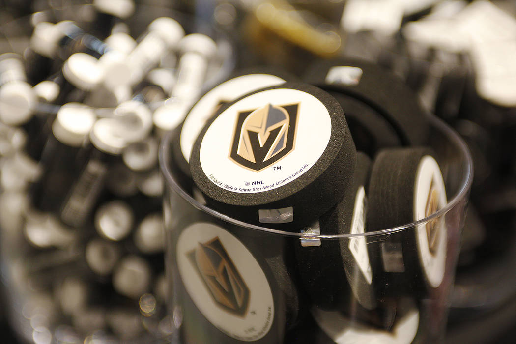 Foam pucks for sale at the Vegas Golden Knights team store, called the Armory, at the T-Mobile Arena on Monday, June 19, 2017, in Las Vegas. The Armory opens Tuesday at 10 a.m. (Rachel Aston/Las V ...