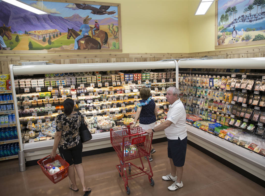 Customers during the grand opening of Trader Joe's, 5639 Centennial Center Blvd., on Friday, June 23, 2017 in Las Vegas. Erik Verduzco/Las Vegas Review-Journal