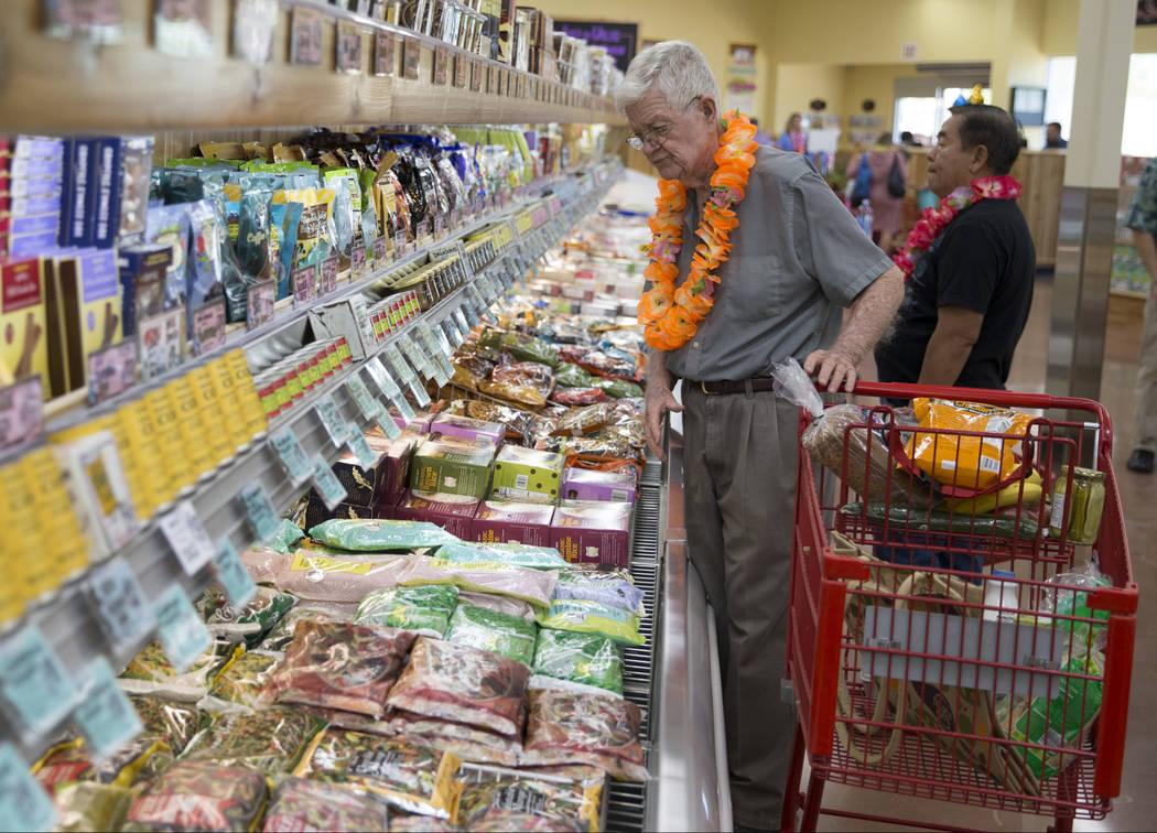 Customer Donald Davin during the grand opening of Trader Joe's, 5639 Centennial Center Blvd., on Friday, June 23, 2017 in Las Vegas. Erik Verduzco/Las Vegas Review-Journal