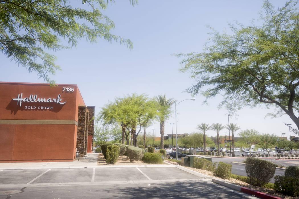 Stores in the large Arroyo Market Square in Las Vegas, Wednesday, June 21, 2017. Elizabeth Brumley Las Vegas Review-Journal