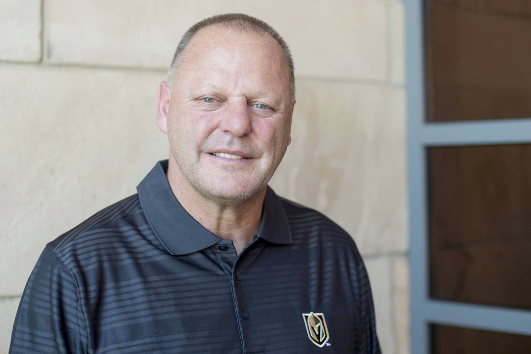 Vegas Knights head coach Gerard Gallant is pictured on Friday, June 9, 2017 in Las Vegas. Bridget Bennett Las Vegas Review-Journal @bridgetkbennett