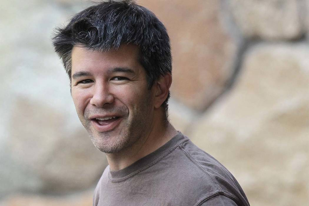 In this July 2012 file photo, Uber CEO and co-founder Travis Kalanick arrives at a conference in Sun Valley, Idaho. Kalanick said in a statement to The New York Times on Tuesday that he has accept ...