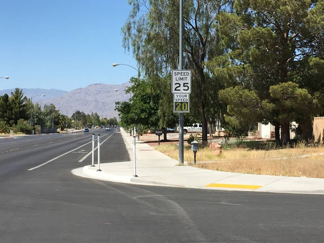A speed reader is seen in this undated photo. Sun City Summerlin will be getting some, too, after residents at the bottom of the slope complained of people doing 55 mph or better in the retirement ...