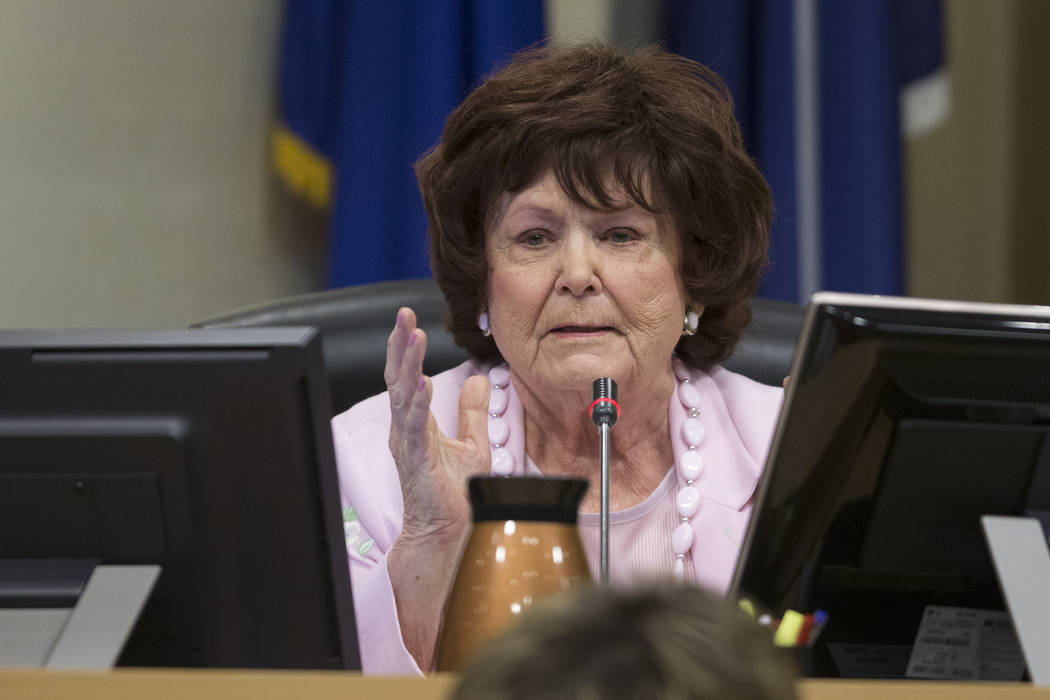 City Councilwoman Lois Tarkanian during a city council meeting discussing short-term rentals at Las Vegas City Hall on Wednesday, June 21, 2017, in Las Vegas. Erik Verduzco/Las Vegas Review-Journal