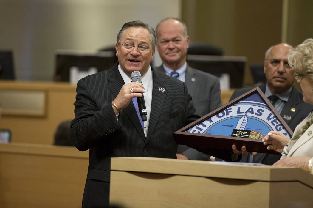 Las Vegas City Councilman Steve Ross during his departure ceremony at Las Vegas City Hall on Wednesday, June 21, 2017. Erik Verduzco/Las Vegas Review-Journal