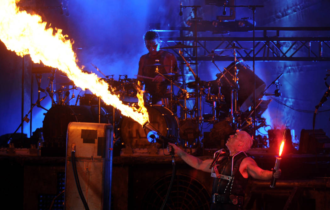 Till Lindemann from Rammstein performs at Wacken Open Air Festival in Wacken, Germany, 01 August 2013. Around 75,000 visitors celebrate at the 24th Wacken Open Air Festival, which according to the ...
