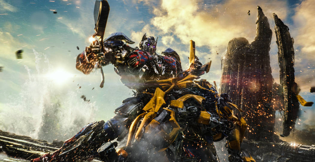Left to right: Optimus Prime and Bumblebee in 'Transformers: The Last Knight' , from Paramount Pictures.